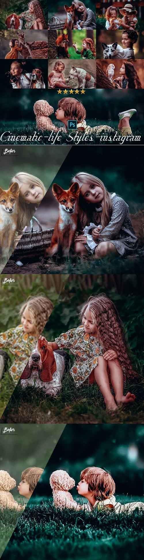 Portrait Cinematic Photoshop Actions - 25990069