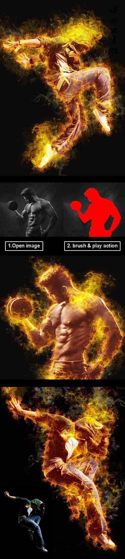 Amazing Flame Photoshop Action Vol 2 28223950
