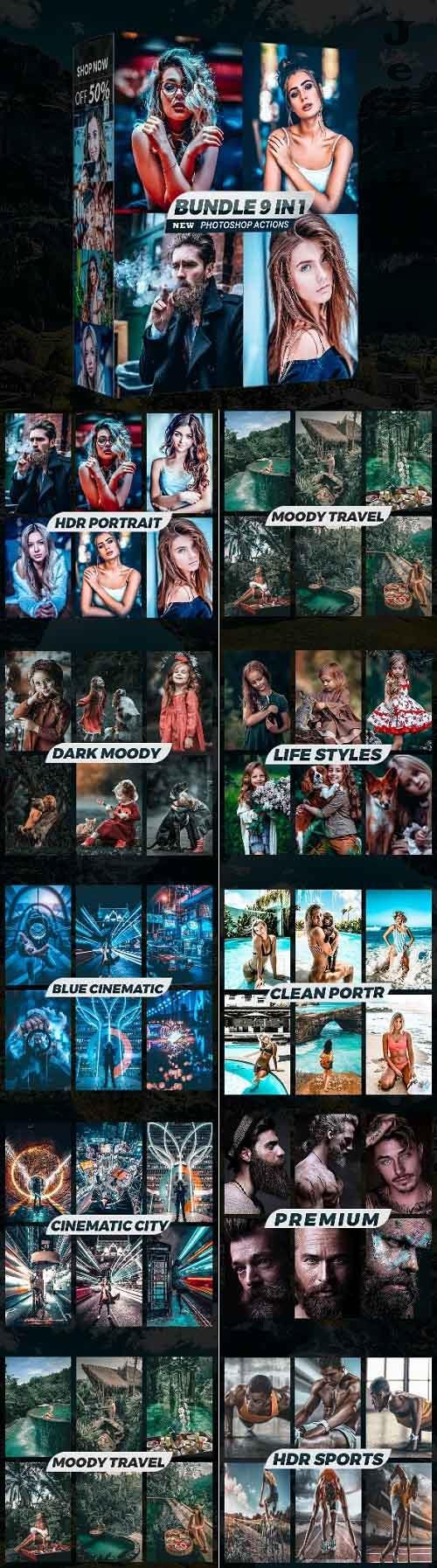 Collection Bundle Photoshop Actions 28855095