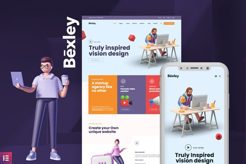 ThemeForest - Bexley v1.0 - Digital Marketing Agency Template Kit - 28870024