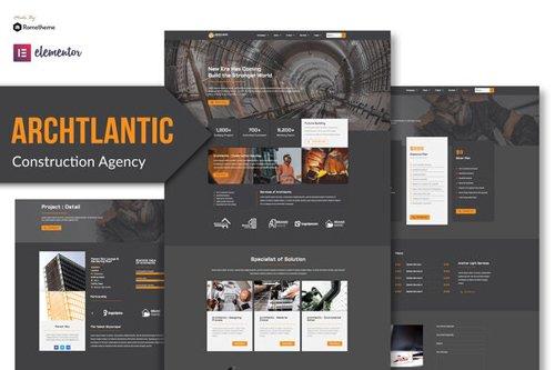 ThemeForest - Archtlantic v1.0 - Construction Agency Elementor Template Kit - 28854783