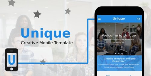 ThemeForest - Unique v1.0 - Creative Mobile Template - 20059939