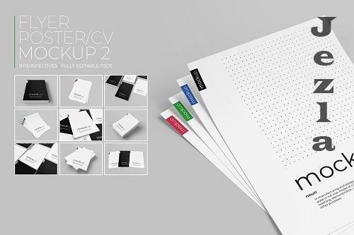 CreativeMarket - Flyer / Poster / CV Mockup 2 4553767