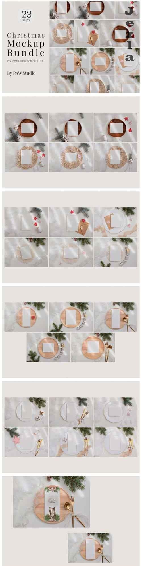 Christmas Bundle Card Mockup - 947450