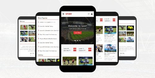 ThemeForest - Sport v1.0 - Responsive Mobile Template - 19950353