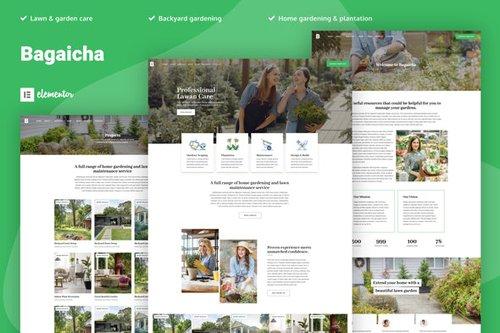 ThemeForest - Bagaicha v1.0 - Landscape & Gardening Elementor Template Kit - 28765249