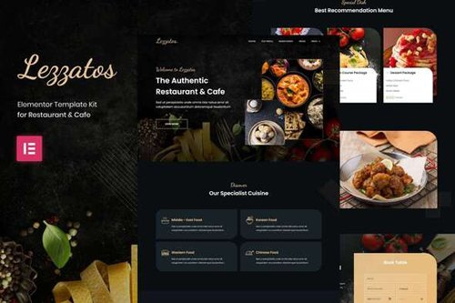 ThemeForest - Lezzatos v1.0 - Restaurant & Cafe Elementor Template Kit - 28890766
