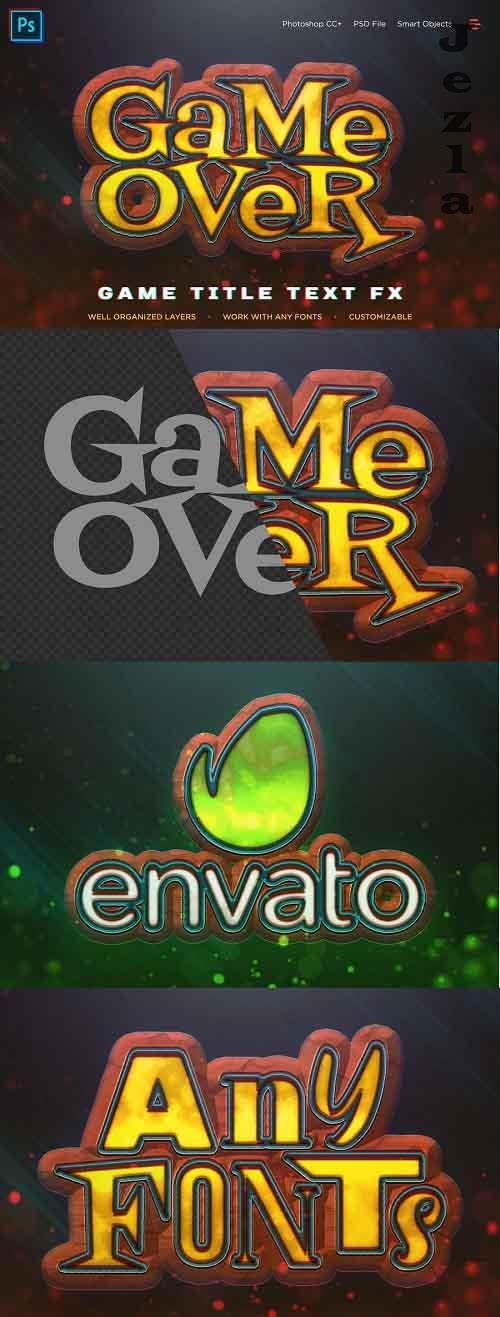 Fantasy Game Title Text Effect V01