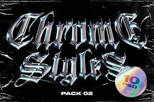 CreativeMarket - Chrome Text Styles Vol.2 5471534