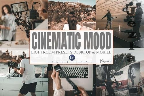 8 Cinematic Mood Lightroom Desktop and Mobile Presets - 963289
