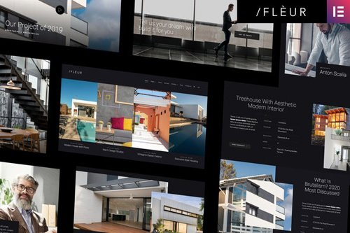 ThemeForest - Fleur v1.0 - Architecture & Interior Elementor Template Kit - 28958351