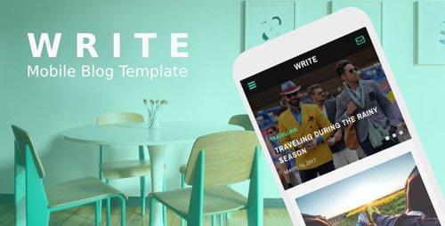 ThemeForest - Write v1.0 - Mobile Blog Template - 20145177