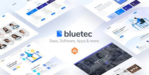 ThemeForest - Bluetec v1.0 - Saas, IT Software, Startup and Coworking Website Template (Update: 11 June 20) - 27106031