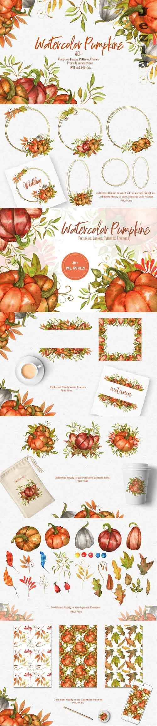 Watercolor Pumpkins Collection - 5493020