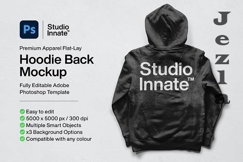 CreativeMarket - Hoodie Back Mockup 5478455