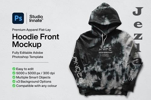 CreativeMarket - Hoodie Front Mockup 5478463
