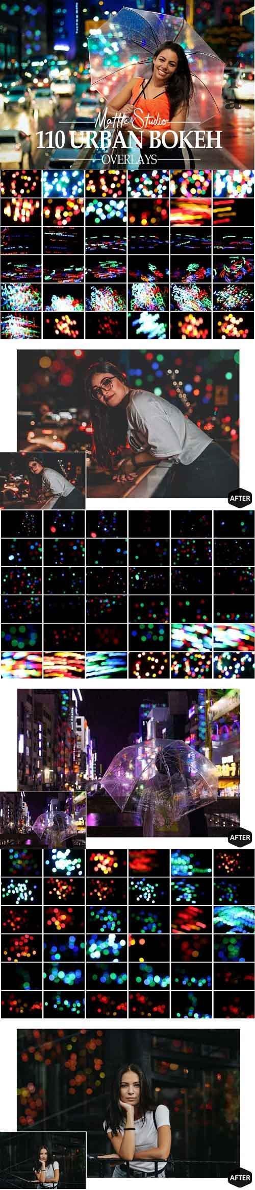 110 Urban Bokeh Overlays, Street Night Photoshop Overlay - 967633
