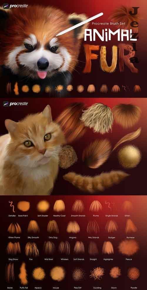 Animal Fur Procreate Brushes - 5476074