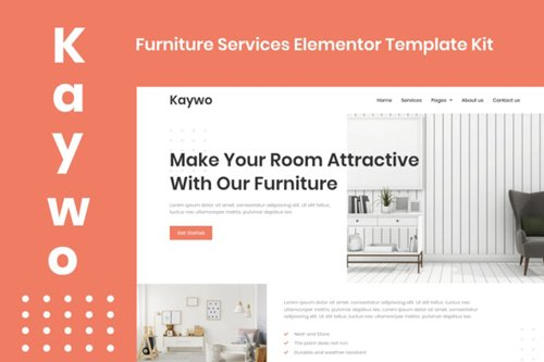 ThemeForest - Kaywo v1.0 - Furniture Services Elementor Template Kit - 28979969