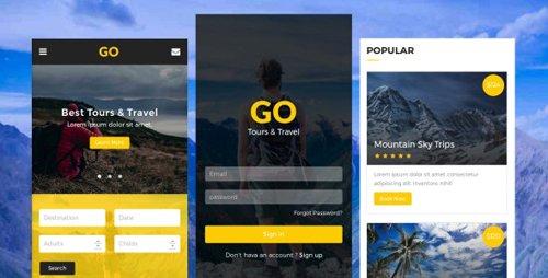 ThemeForest - Go v1.0 - Tours & Travel Mobile Template - 20728406