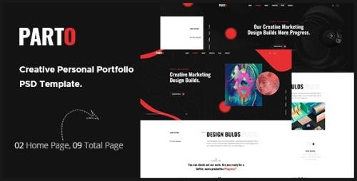 ThemeForest - Parto v1.0 - Creative Personal Portfolio PSD Template. - 28779893