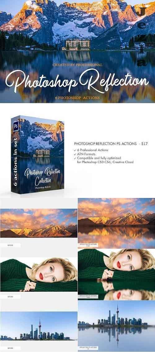 CreativeMarket - Reflection Photoshop Actions 4548061