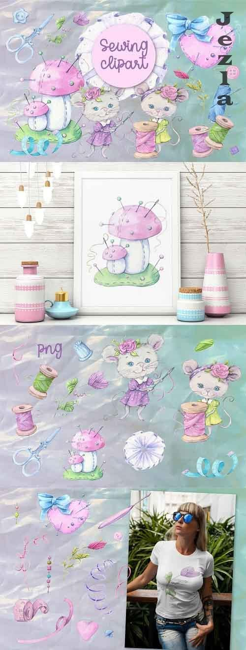 Sewing accessories and sewing mouse - 5468611
