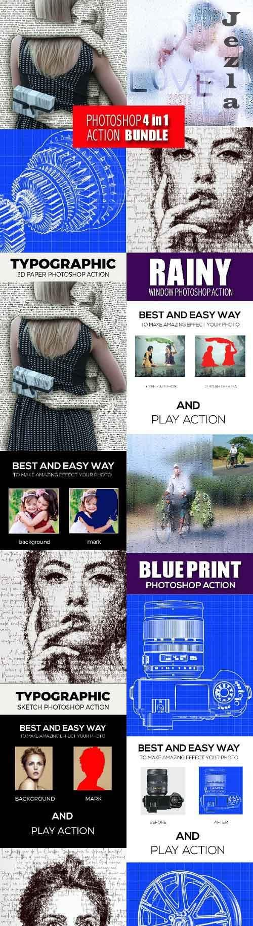 GraphicRiver - Photoshop 4in1 Actions Bundle V 7 28586206