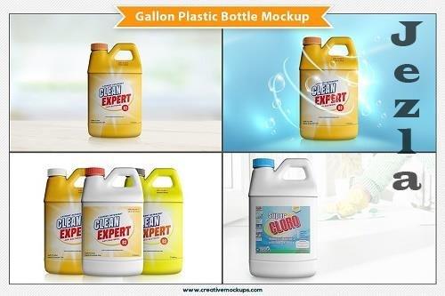 CreativeMarket - Gallon Plastic Bottle Mockup 5199527