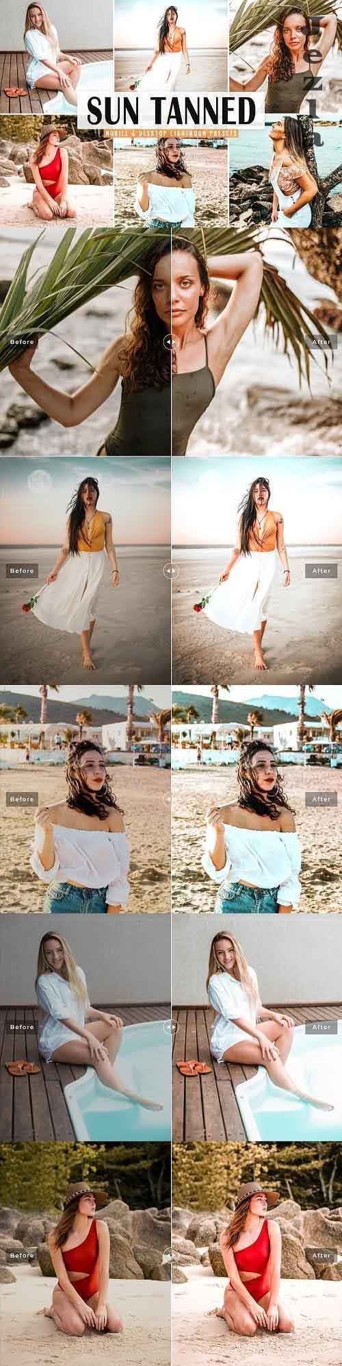 CreativeMarket - Sun Tanned Pro Lightroom Presets - 5498516 - Mobile & Desktop
