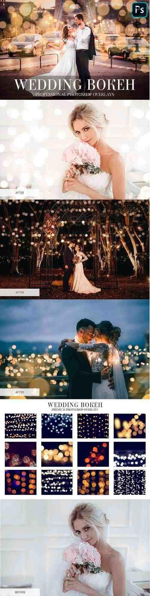 CreativeMarket - Wedding Bokeh Overlays 4934941