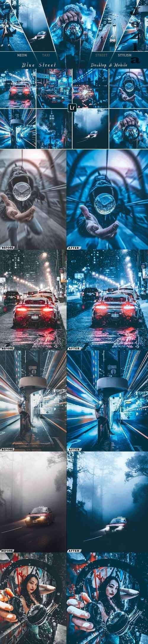 Blue Cinematic Street Presets ( Mobile & Desktop ) - 26900425
