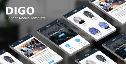 ThemeForest - Digo v1.0 - Elegant Mobile Template - 20292237