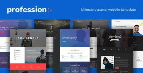 ThemeForest - Profession v1.1.2 - Personal Website Template - 20537803