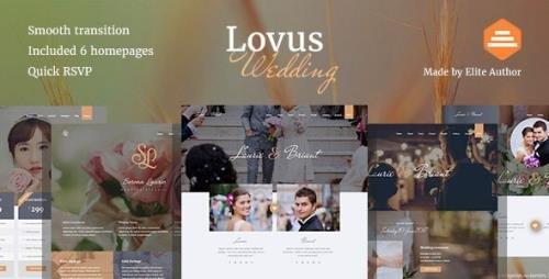 ThemeForest - Lovus v1.0.2 - Wedding Website Template - 19150798