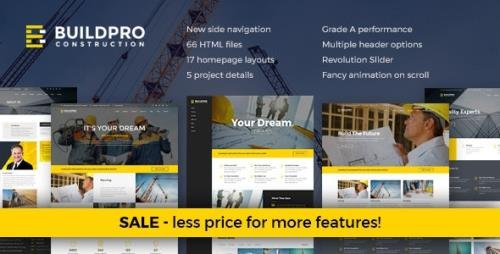 ThemeForest - BuildPro v1.3 - Construction and Building Website Template - 16555797