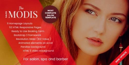 ThemeForest - Modis v1.3.4 - Salon, Spa & Barber Website Template - 15393570