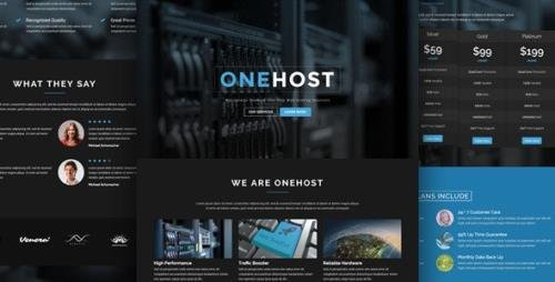 ThemeForest - Onehost v1.1.2 - One Page Responsive Hosting Template - 7489042
