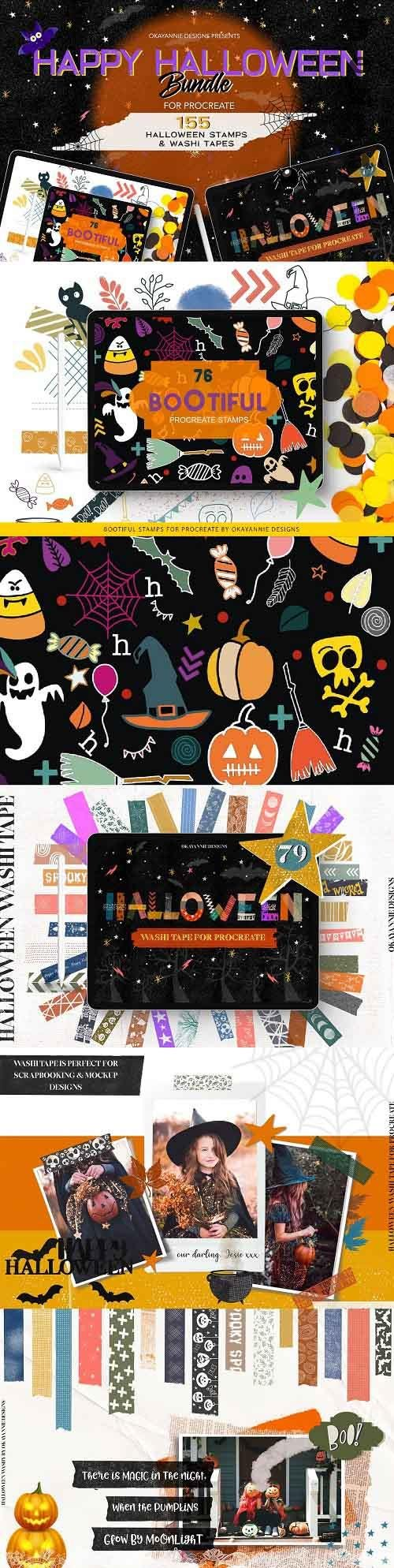 Happy Halloween Procreate Bundle - 5503420
