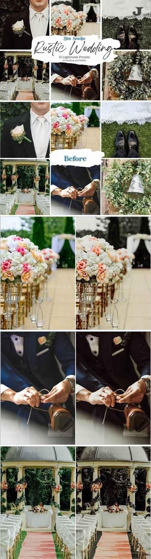 CreativeMarket - Rustic Wedding Lightroom Presets 5481913