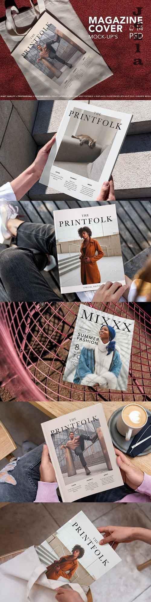 CreativeMarket - Magazine Cover Mock-Up 5500788