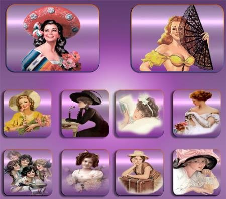Png клипарты - Светские дамы