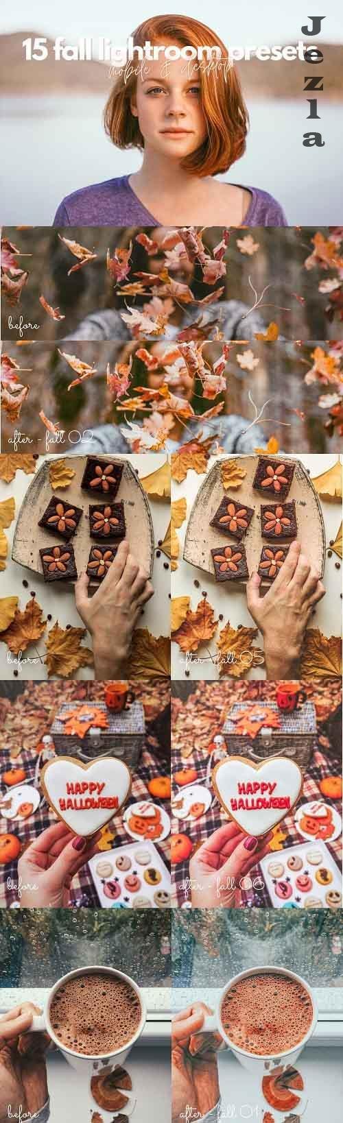 CreativeMarket - 15 Fall / Autumn Lightroom Presets 5499857
