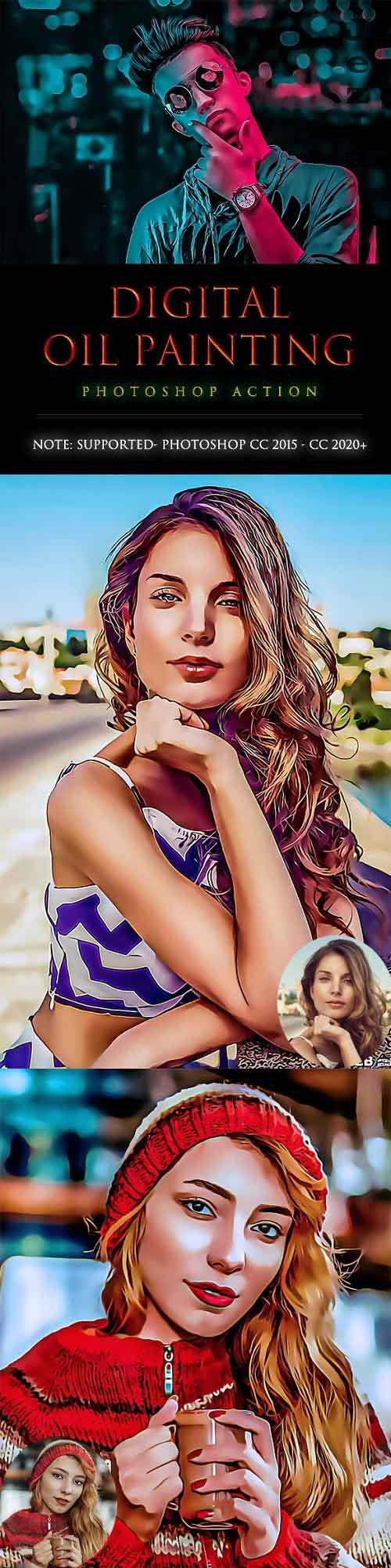 GraphicRiver - Digital OiL painting PhotoShop Action 28368497