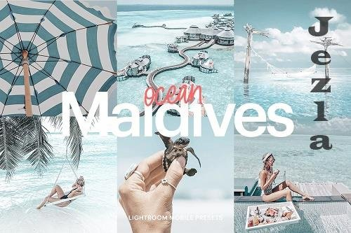 CreativeMarket - Lightroom Preset-Maldives Ocean 4973275