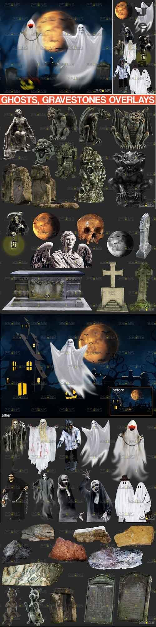 39 Halloween overlay & Ghost Clipart PHSP overlay - 994985