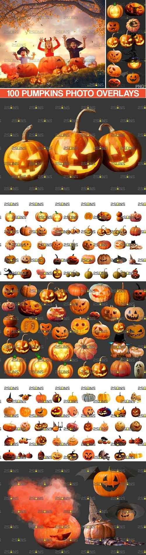 100 Halloween overlay & Halloween pumpkin overlays - 994993