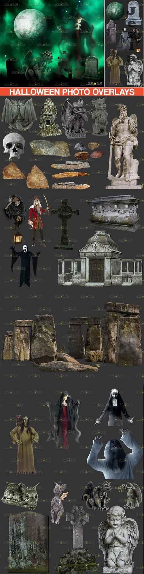 35 Halloween overlay & Ghost Clipart Photoshop overlay - 994989