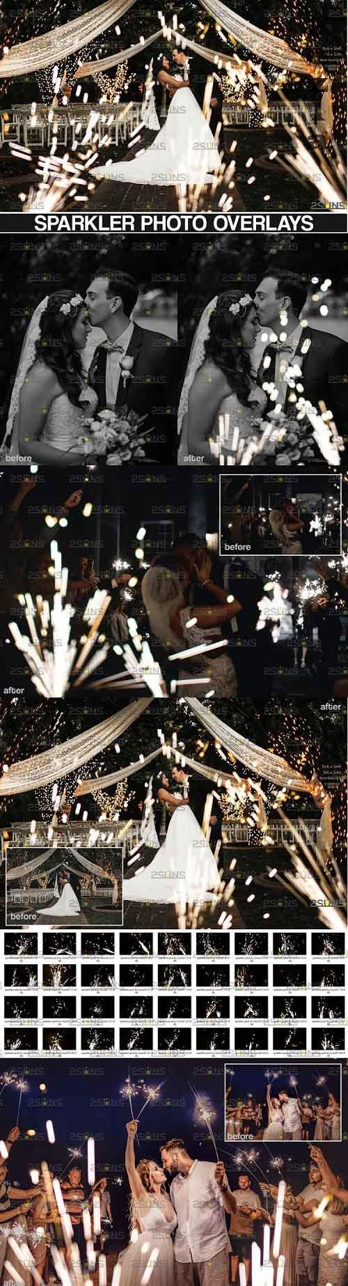 Wedding sparkler overlays Photoshop overlay - 995013