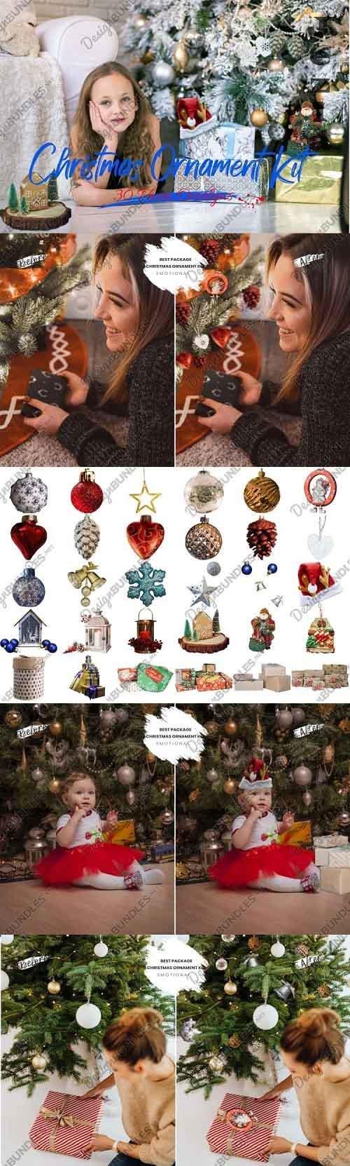 Christmas Ornament kit Photoshop Overlays - 997605